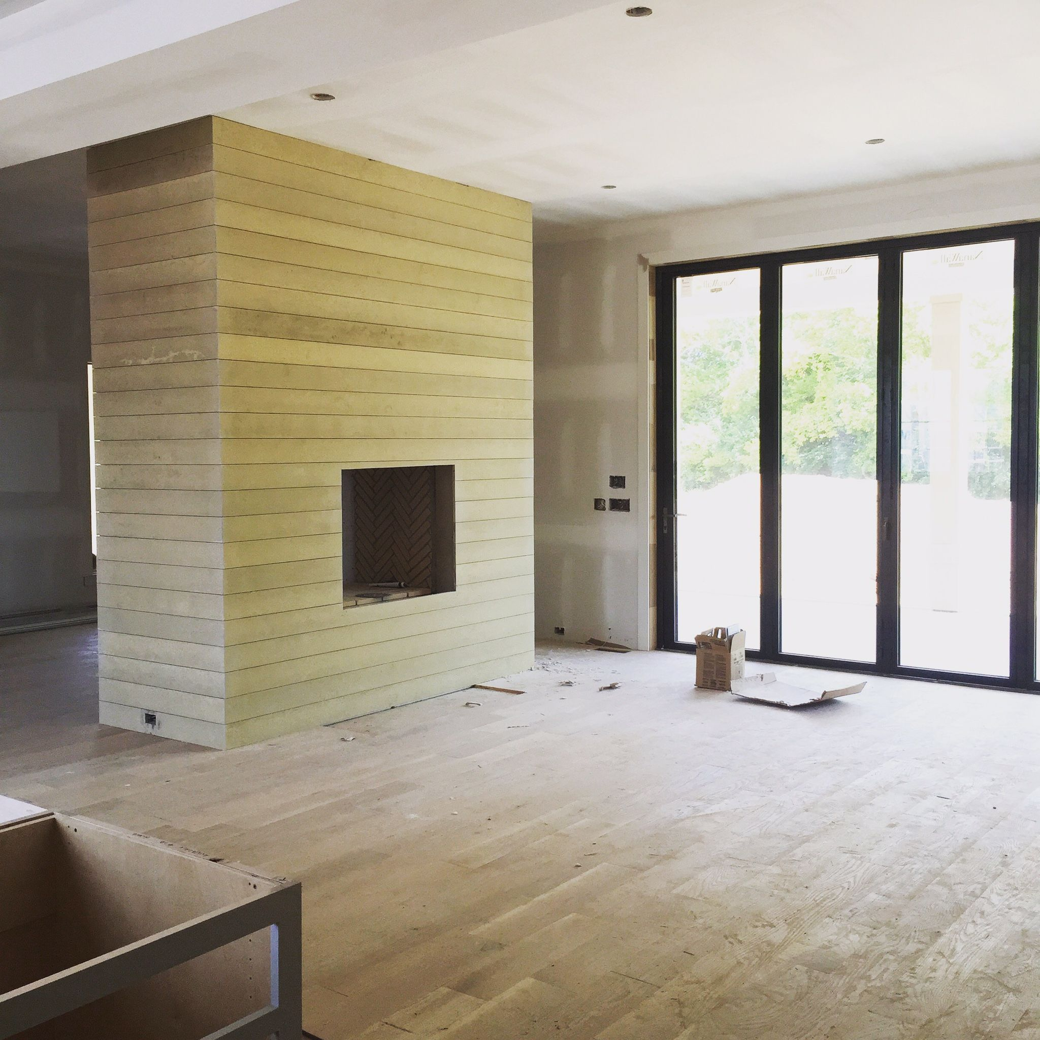 Cement Board For Fireplace Part - 21: Cement Board Shiplap. How-to With Suggestions.