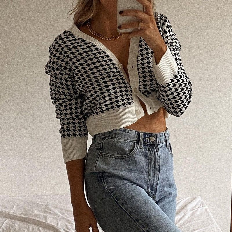 Y2K Clothing Gray Cardigan Vintage Clothing Cropped Tops Crop Top Grey Cardigan for Women Womens Clothing Cropped Cardigan
