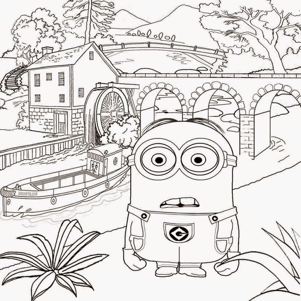Detailed Art Wallpaper Despicable Me Sketch Free Activities For Kids Minions Coloring Pages Minion Coloring Pages Detailed Coloring Pages Summer Coloring Pages