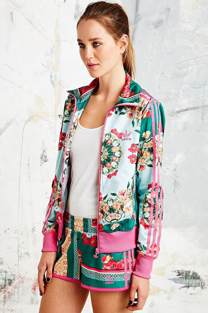 67957552af2 Adidas X The Farm Company Borboflor Jacket in Floral Print in Multicolor  (ASSORTED)