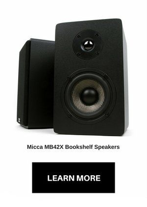 Micca Bookshelf Speakers With Carbon Fiber Woofer And Silk Dome