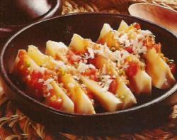 Recetas de cocina. Yuca Chorreada