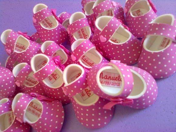Lembrancinha Maternidade Menina - Sapato | Petit Mania | Elo7