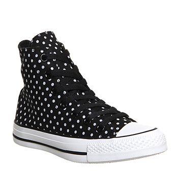 329e7b81d58d Converse Converse All Star Hi Black Reflective Polka Dots Exclusive - Unisex  Sports
