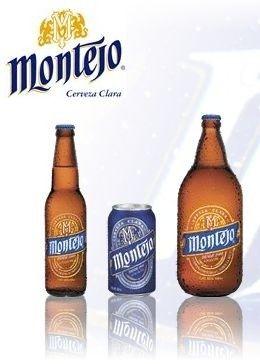 Cerveja Montejo, estilo Standard American Lager, produzida por Modelo, México. 5% ABV de álcool.