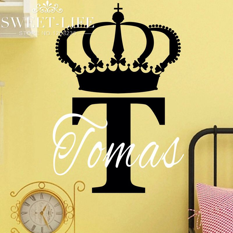 free shipping i'm king wall stickers home decor decal sticker custom name wall decals for boy's room home decoration n101