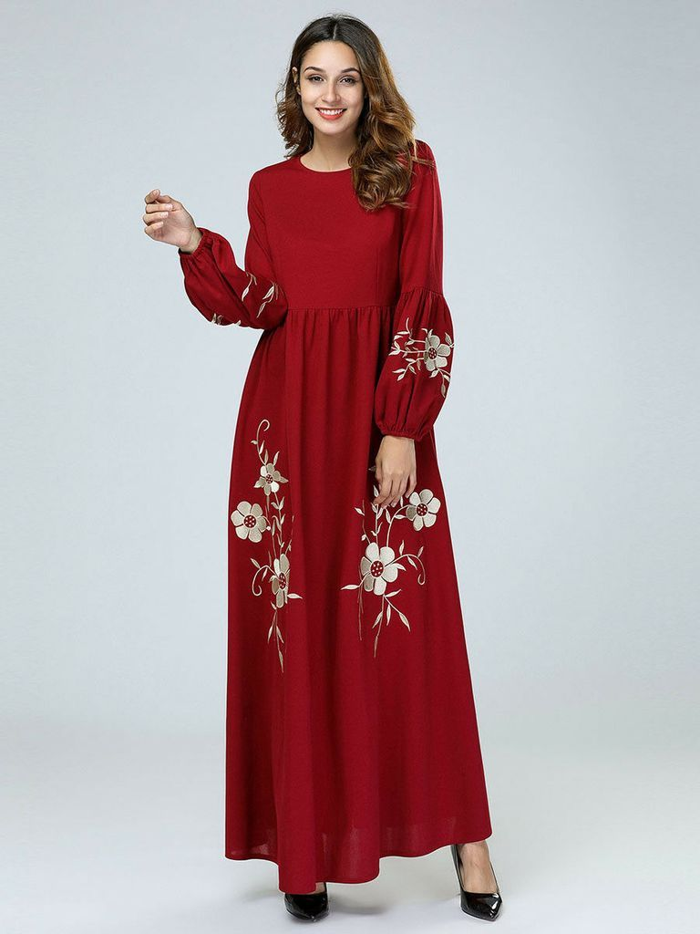 Park Art|My WordPress Blog_Embroidered Maxi Dress With Sleeves
