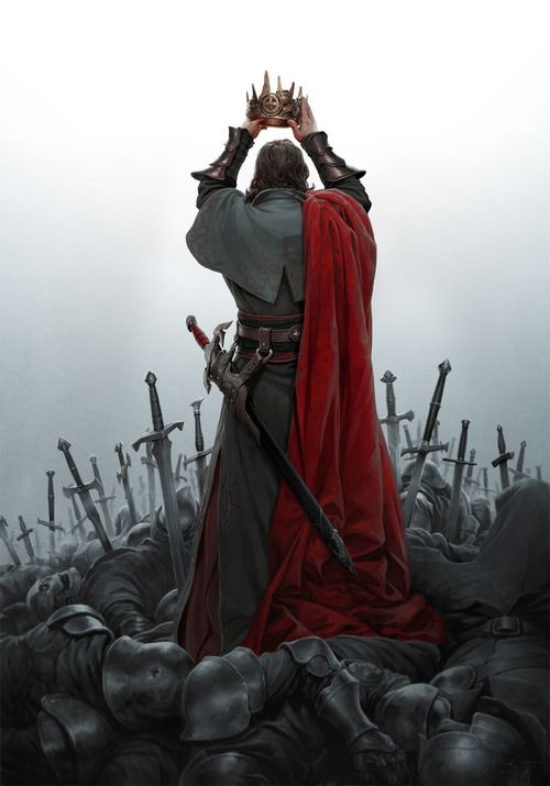I am crowned by the swords of the dead.