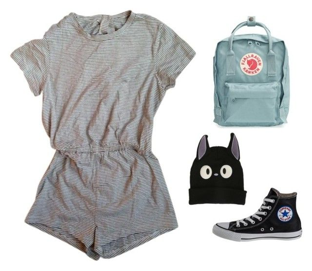 """""""Untitled #10"""" by fairielana ❤ liked on Polyvore featuring American Apparel, Fjällräven, Ghibli, Converse, tumblr, indie, boho, grunge and aesthetic"""
