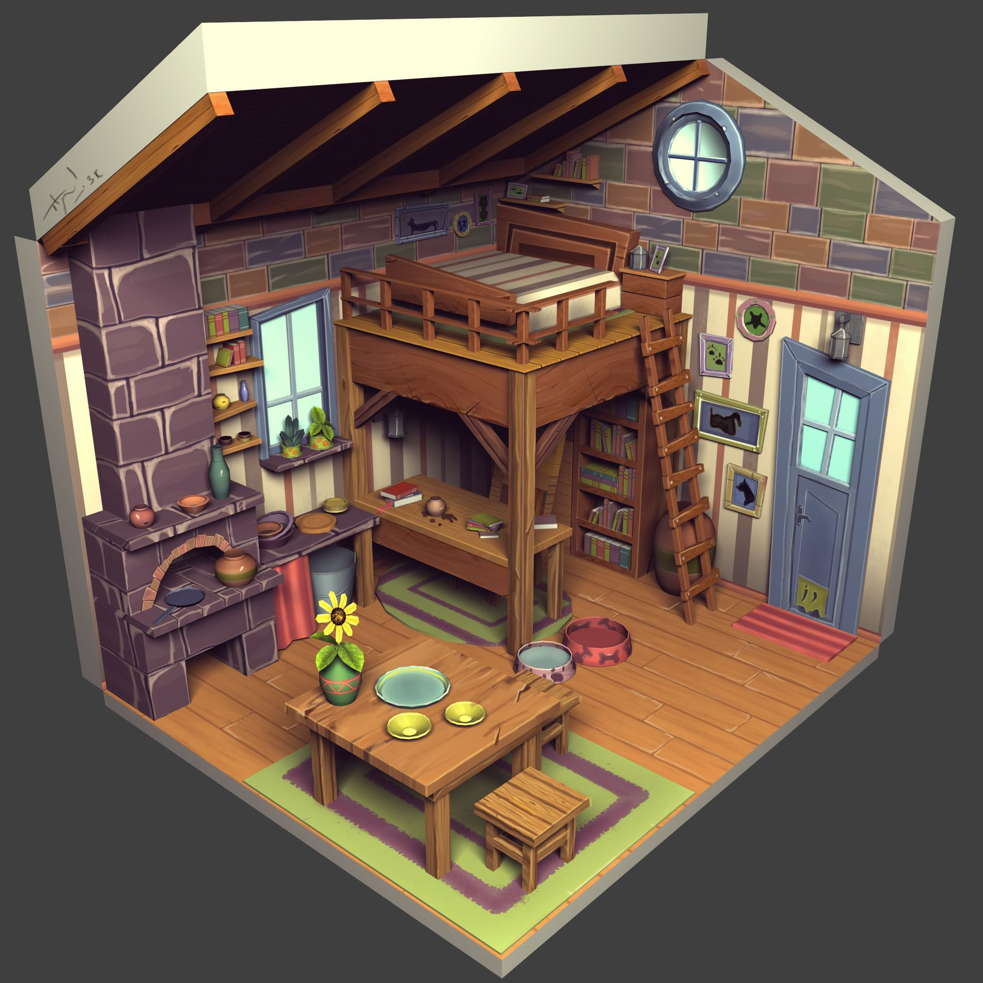 Virtual 3d Home Design Game: Pin By Game Art Resource On Environments: Dioramas, Cross