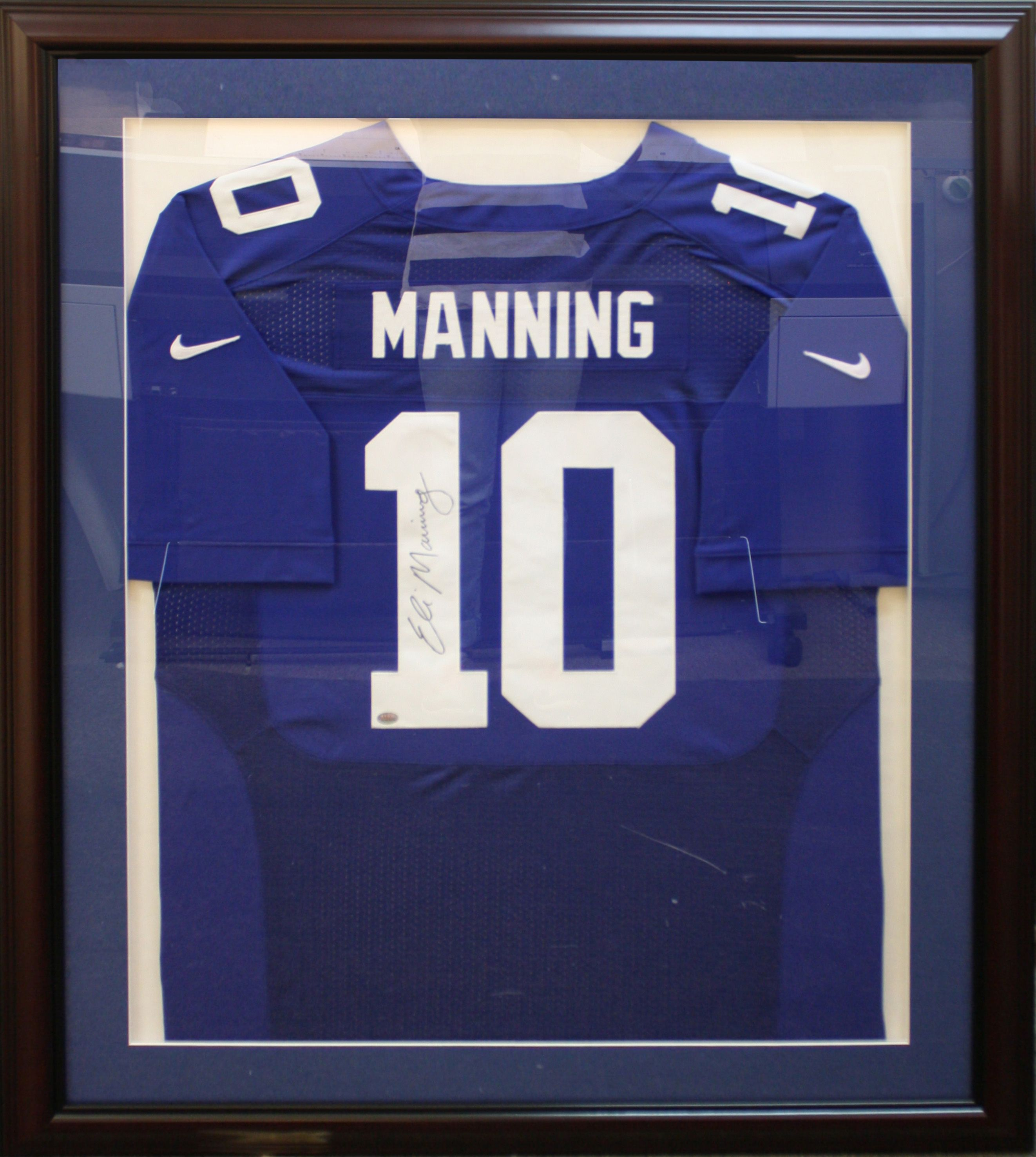 NY Giants NFL Eli Manning Jersey custom framed by Art and Frame Express in  Edison NJ  Football JerseysNfl
