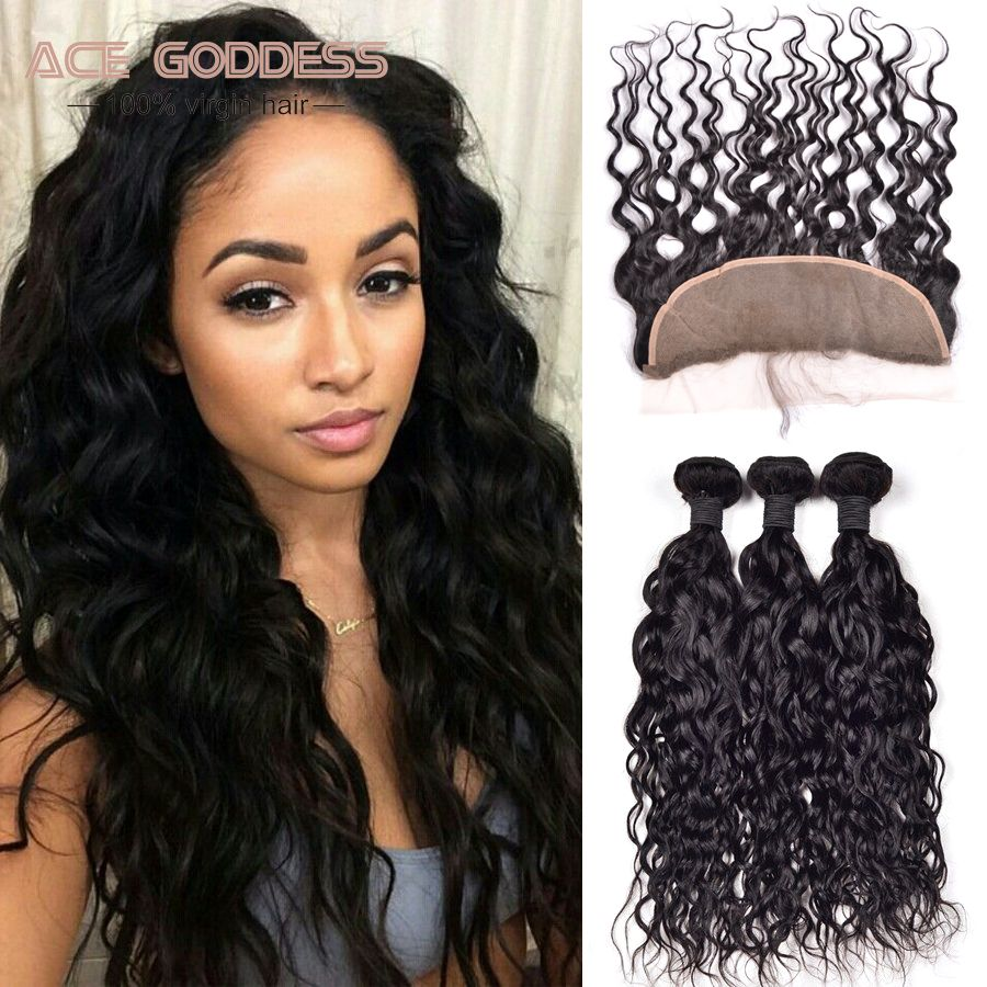 7A Brazilian Virgin Hair Natural Wave Lace Frontal With