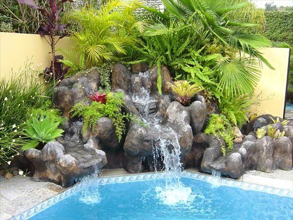 cascadas en jardines pequeños - Buscar con Google Piscinas - cascadas en jardines