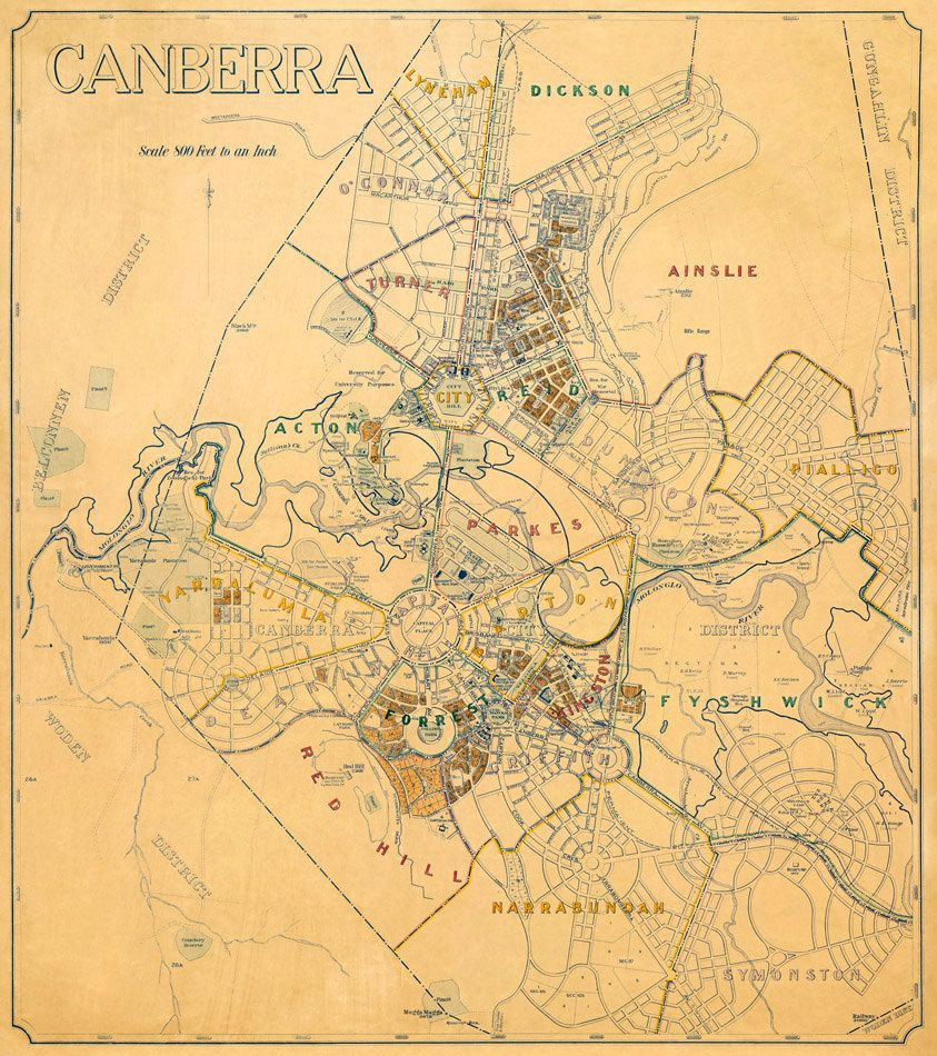 Map Of Canberra Old Map Of Canberra Around 1900 Vintage Maps Map Old Maps