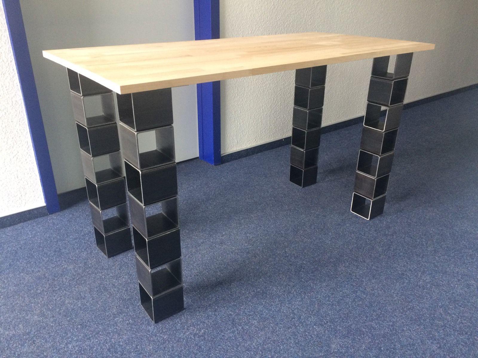 Tischbeine Quadratrohr 100 X 100 Stutzfuss Tischgestell Tischkufen