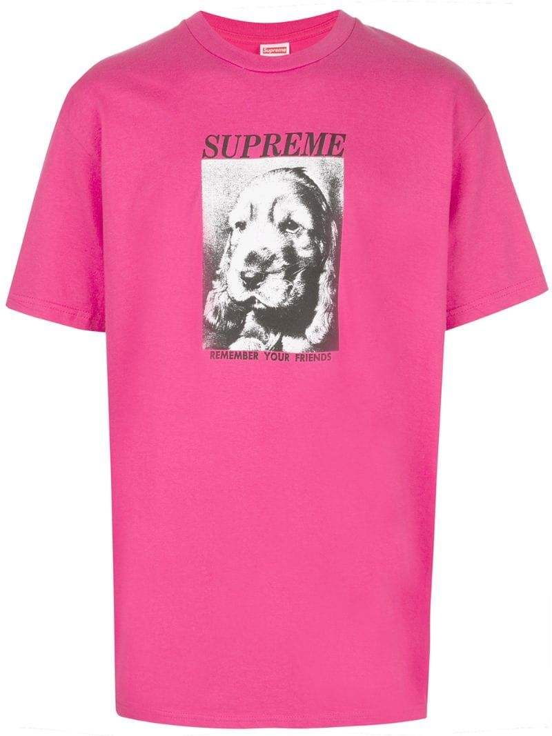 Supreme Supreme Remember Tee Pink Supreme Cloth [ 1067 x 800 Pixel ]