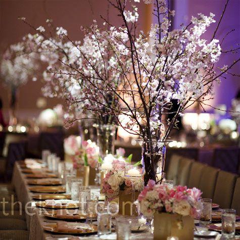 cherry blossom centerpiece | wedding show booth ideas | pinterest