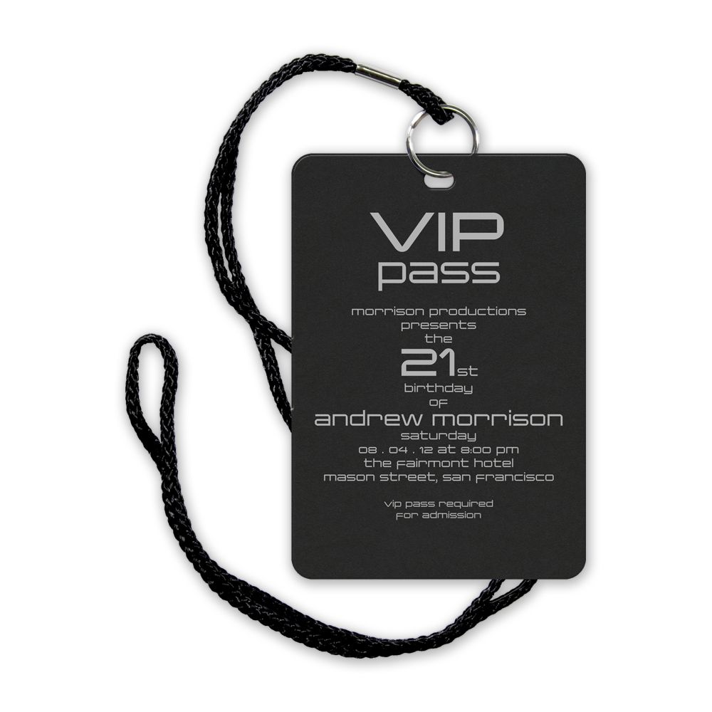 vip pass | VIP Pass eInvite Party Birthday Parties Adult ...