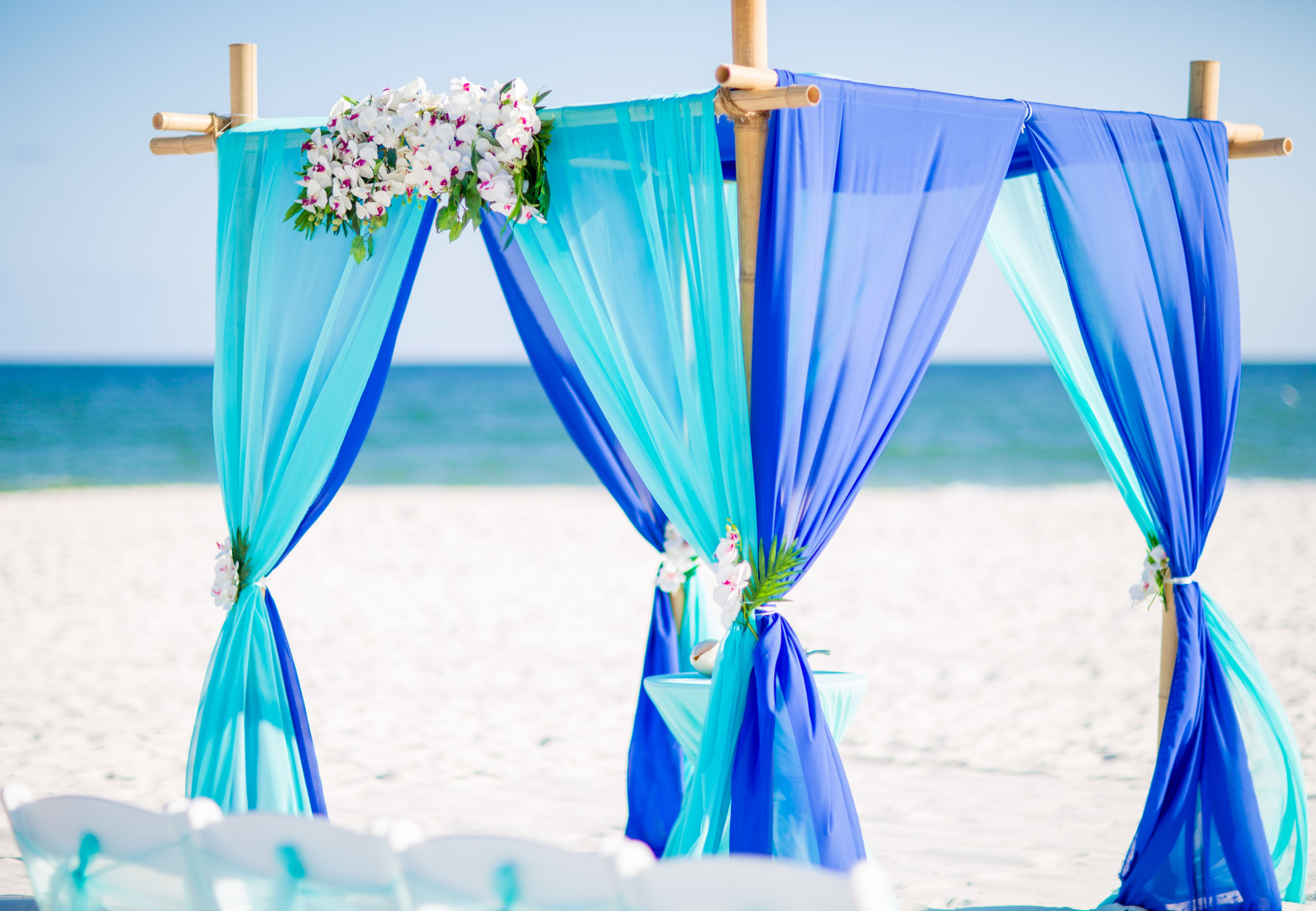 Aqua Blue And Royal Blue Wedding With Images Blue Beach