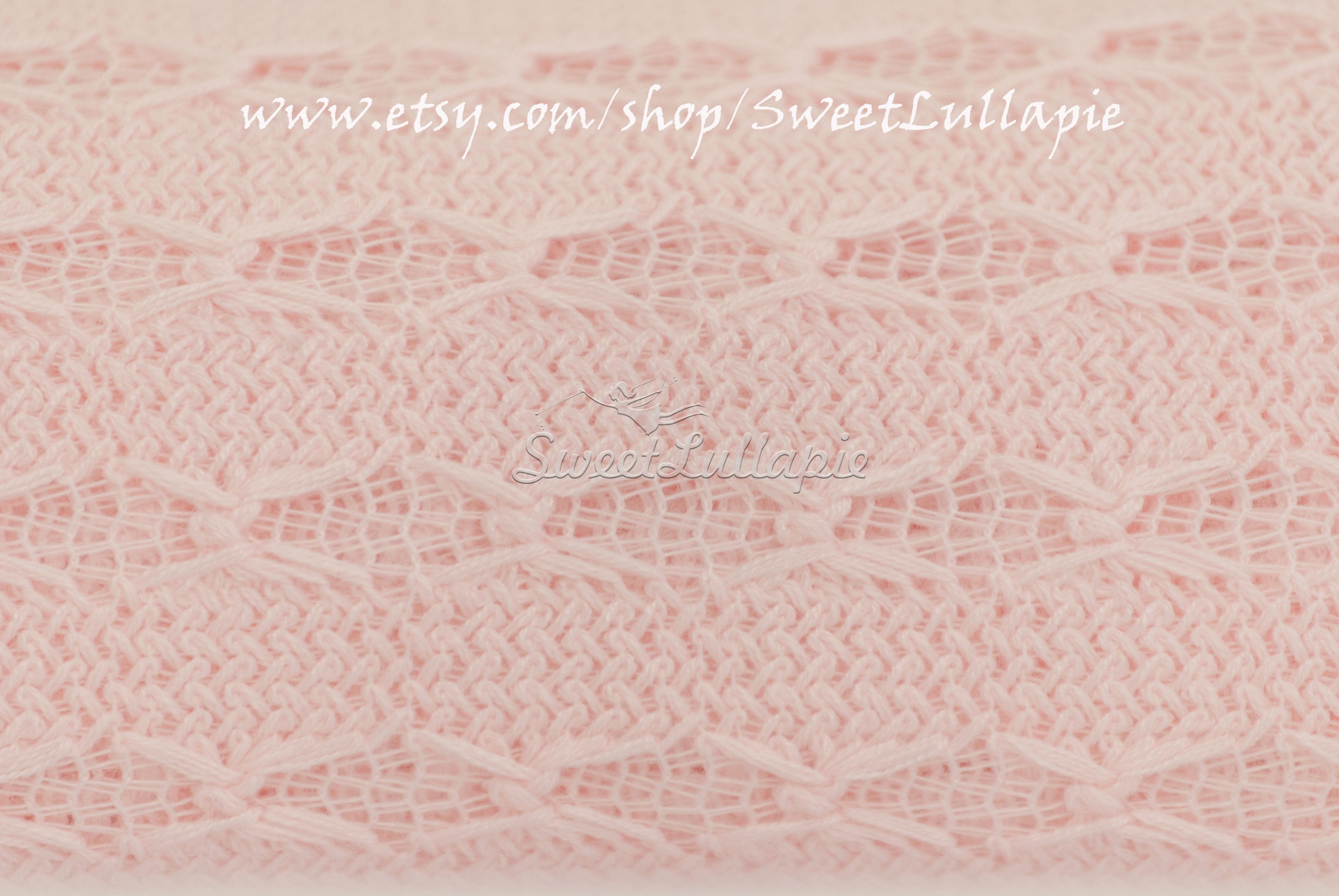 Newborn Photography Candy Pink Fabric Backdrop With Elegant Knitted Moroccan