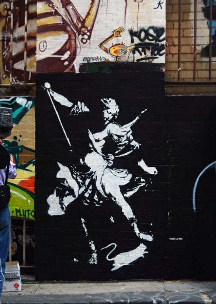 Pochoir Street Art Trouvez La Creativite En 65 Images Archzine Fr Pochoir Street Art Graffiti Avec Pochoir Street Art
