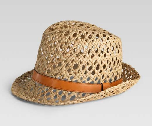 f3121aaef48 Gucci s Trilby straw hat with light tobacco leather trim