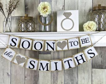 Future Mr & Mrs Wedding Banner Photo Prop Chalkboard Style / Reception Decor / Engagement Party Decor - Print Your Own - FILE to PRINT DIY