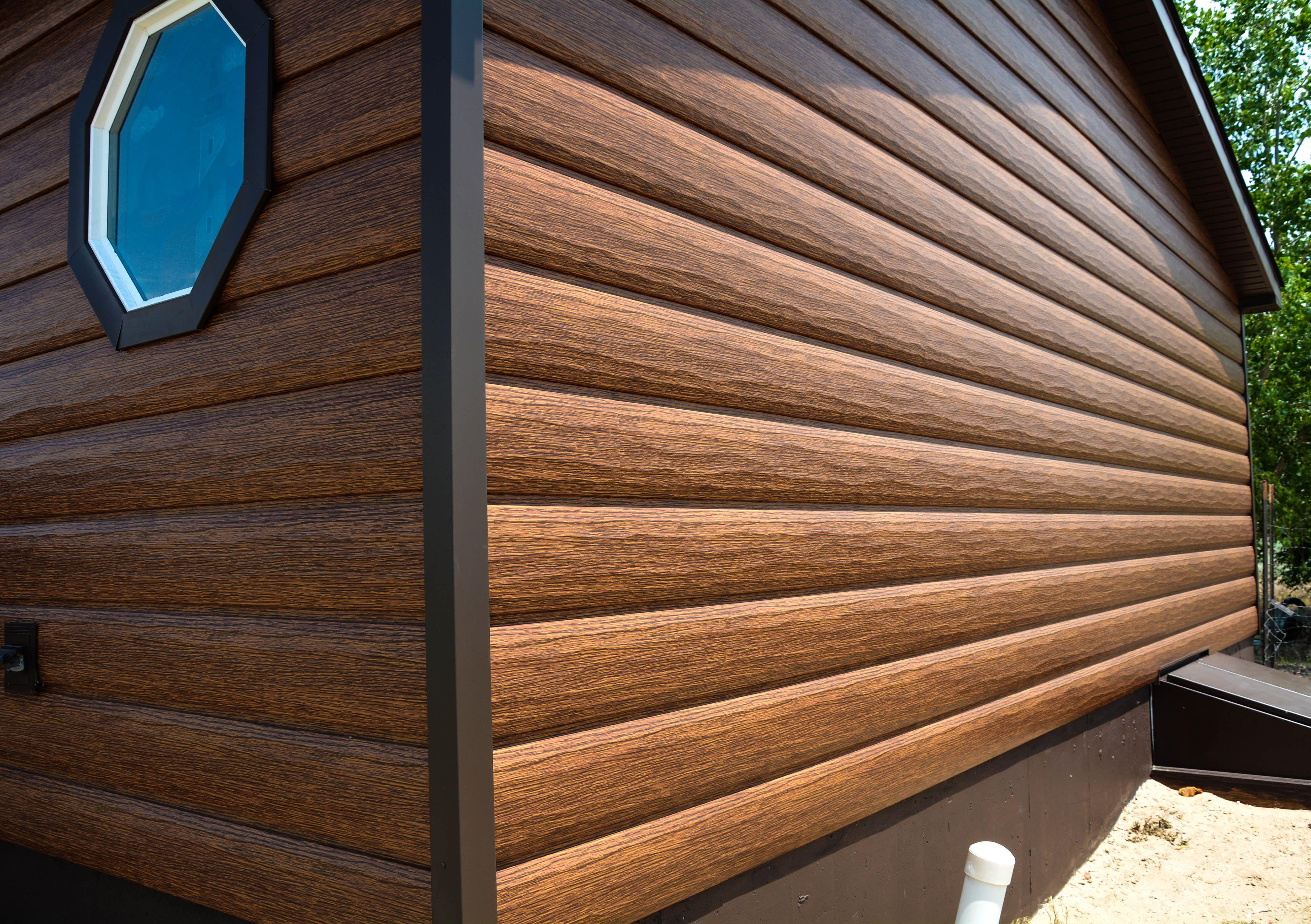 Red Cedar Trulog Siding Metal Siding Cost Metal Siding Siding Cost
