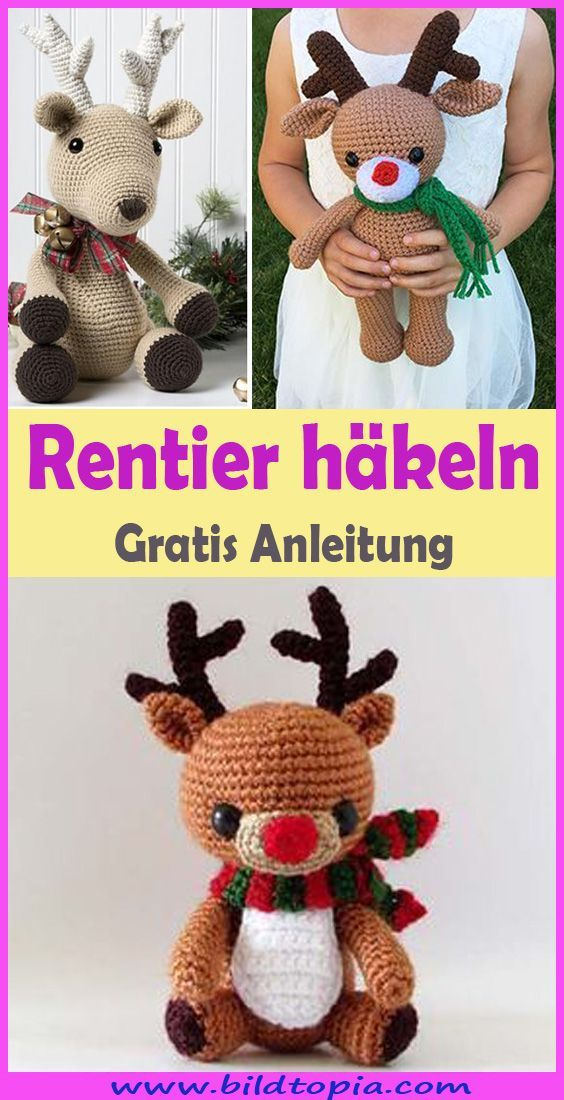 Photo of Crochet Reindeer – Free & Easy Instructions – Crafts
