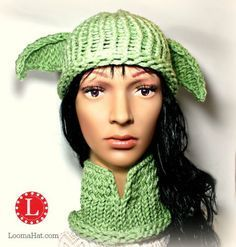 Loom knit yoda hat and cowl free pattern sewing pinterest loom knit yoda hat and cowl free pattern dt1010fo