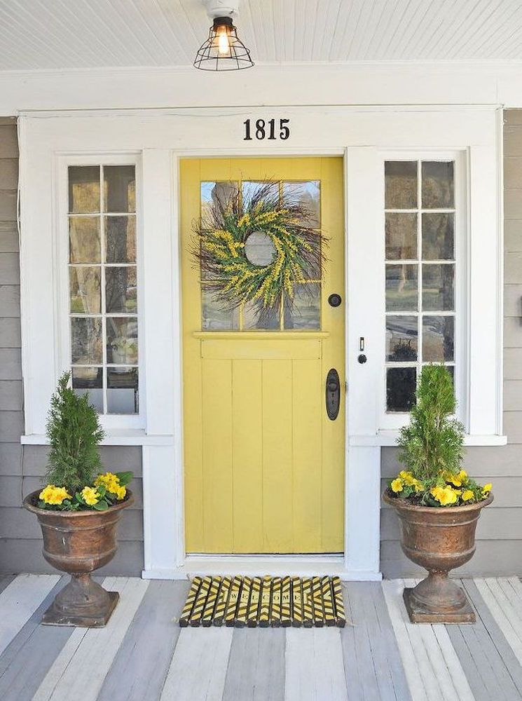 Welcome Home 11 Fresh Ways To Spruce Up Your Front Door Yellow