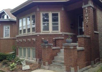 Suburban Chicago Bungalow Art Nouveau Style