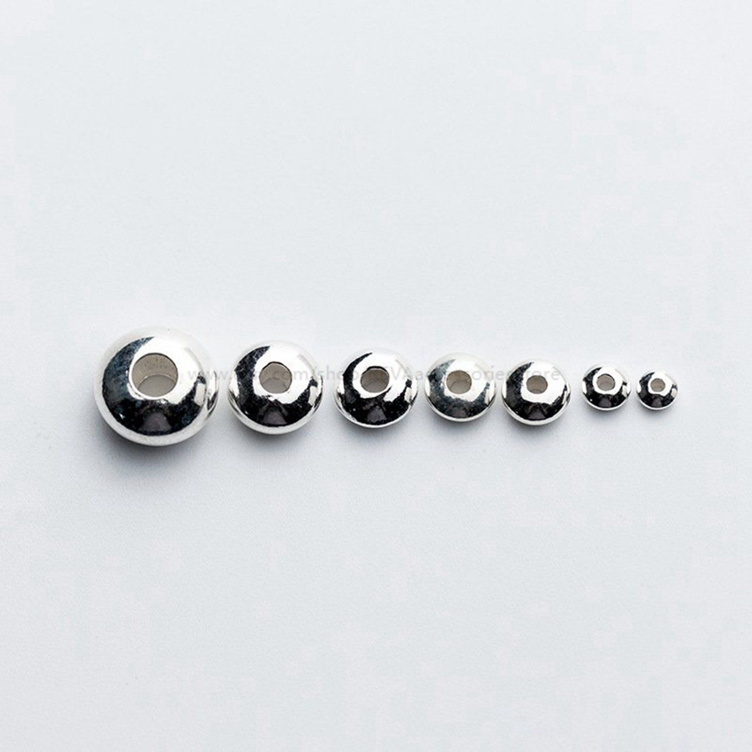 4mm 10mm 925 Sterling Silver ROUND SPACER BEADS 2mm 5mm 8mm 6mm 3mm
