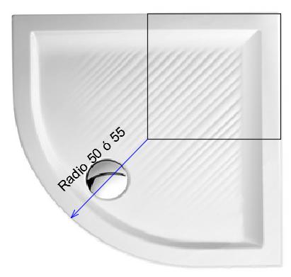 Radio roca o radio italiano como medir la curva del plato for Platos de ducha roca rectangulares