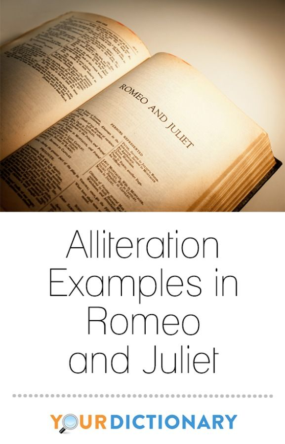 Alliteration Examples In Romeo And Juliet Alliteration Book Clubs