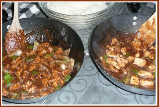 Self Sufficient Cafe: Tofu & Green Peppers in Black Bean Sauce