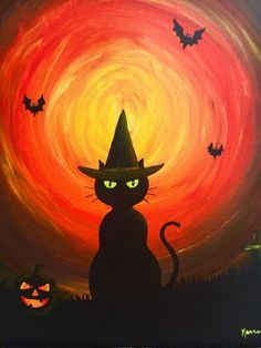 paint nite dc famous daves sterling 10272015 - Halloween Pictures To Paint