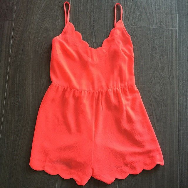 """Get your romper game on with this bright coral scallop edge romper!  For pricing and size availability, please call us at 786-740-1407 or email us at r2cboutique@gmail.com  #LooksWeLove #OutfitsWeLove #Spring  #SwimsuitSeason #Swimsuit #Boutique #Fashion #Summer #Style #pool #beach #Weekend #OOTD #OOTN #Miami #swim #onlineboutique #CoralGables #Pinecrest #SouthMiami #SouthBeach #Wynwood #PembrokePines #Midtown #Kendall #MiamiLakes #Downtown #tagforlikes #tagyourbestie #tagyourfriends"""