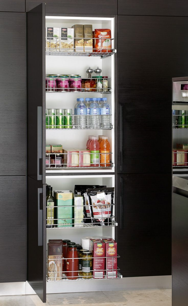 Superior Stainless Steel Wire Shelving For The Pantry. A Great Pullout Solution  Which Enables Easy Access To The Pantry. Our Most Popular Product.