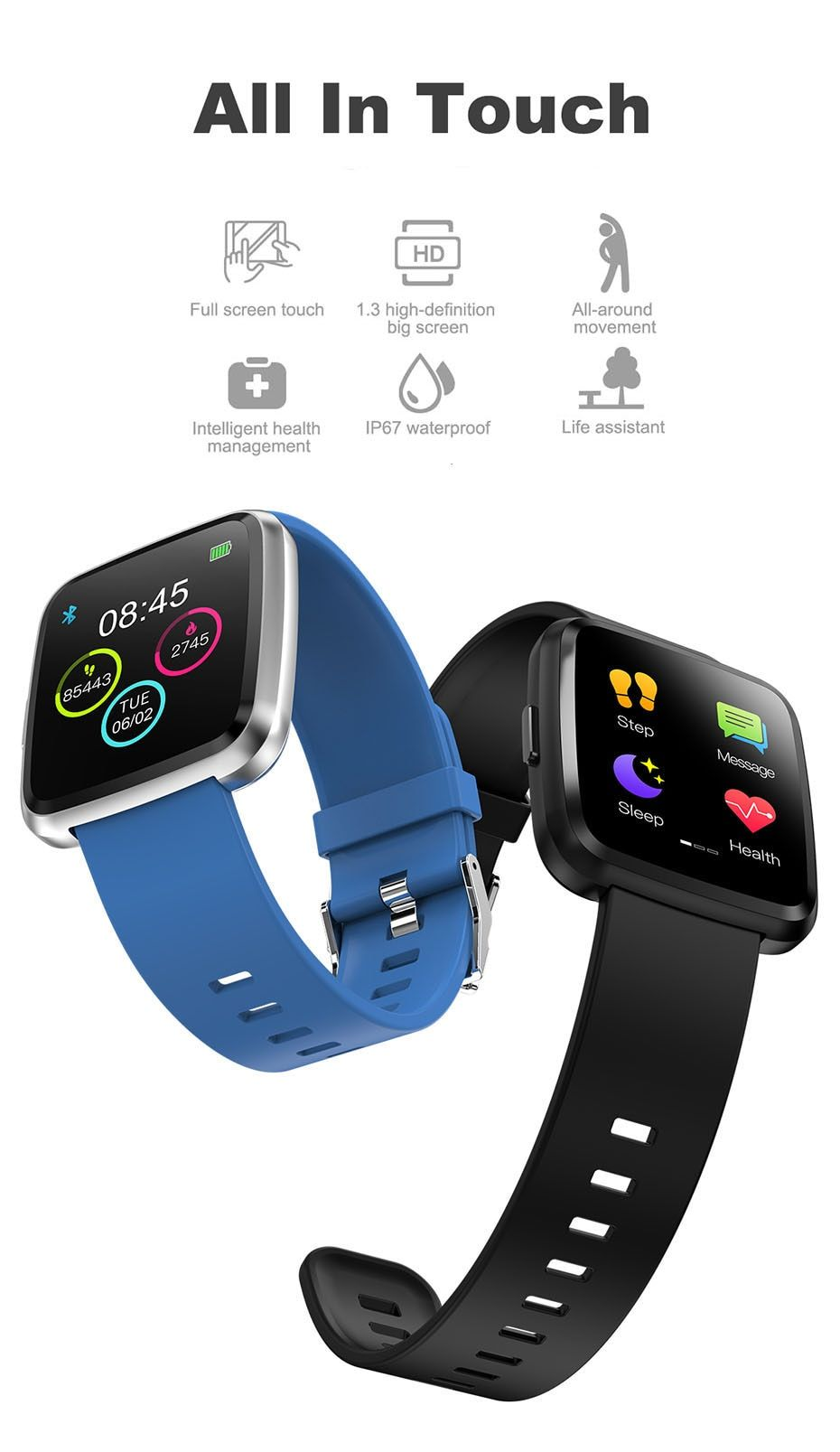 Colmi Cy7 Pro Smart Watch Full Screen Touch Ip67 Waterproof Bluetooth Sport Fitness Tracker Men Smartwatch For Ios Android Phone In Smart Watches From Consumer