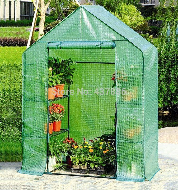 Flowers pot culture vegetable balcony mini greenhouse PE