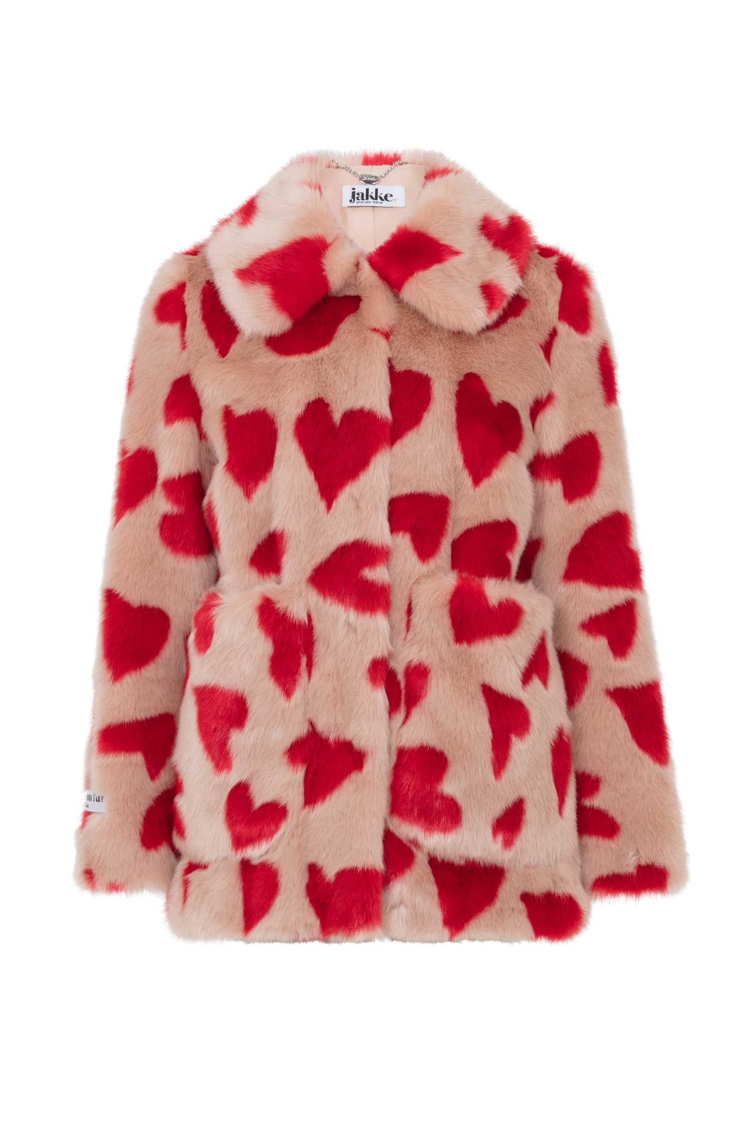 d3d2b964 TAMMY – Hearts in 2019 | Want | Faux fur jacket, Red faux fur coat ...