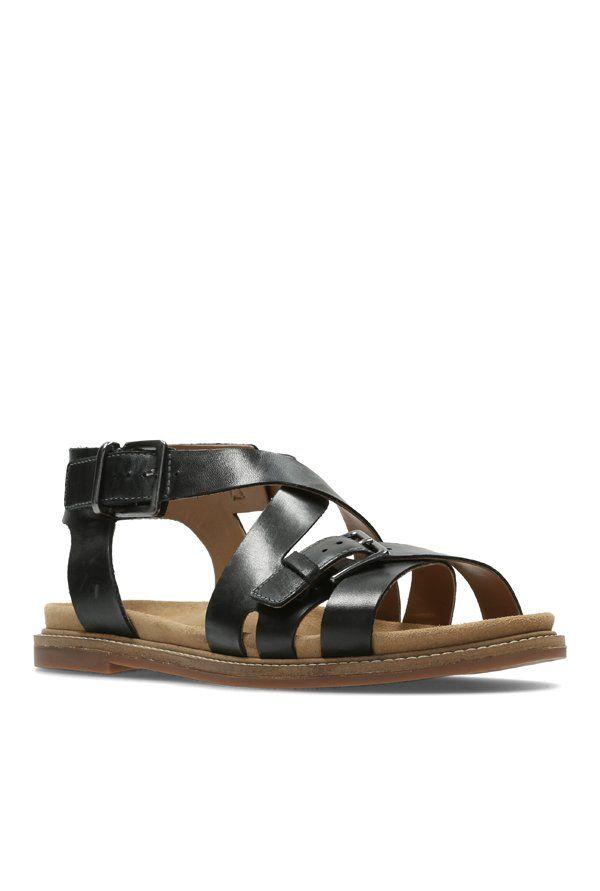 614d7414118 Clarks Corsio Bambi Black Cross Strap Sandals