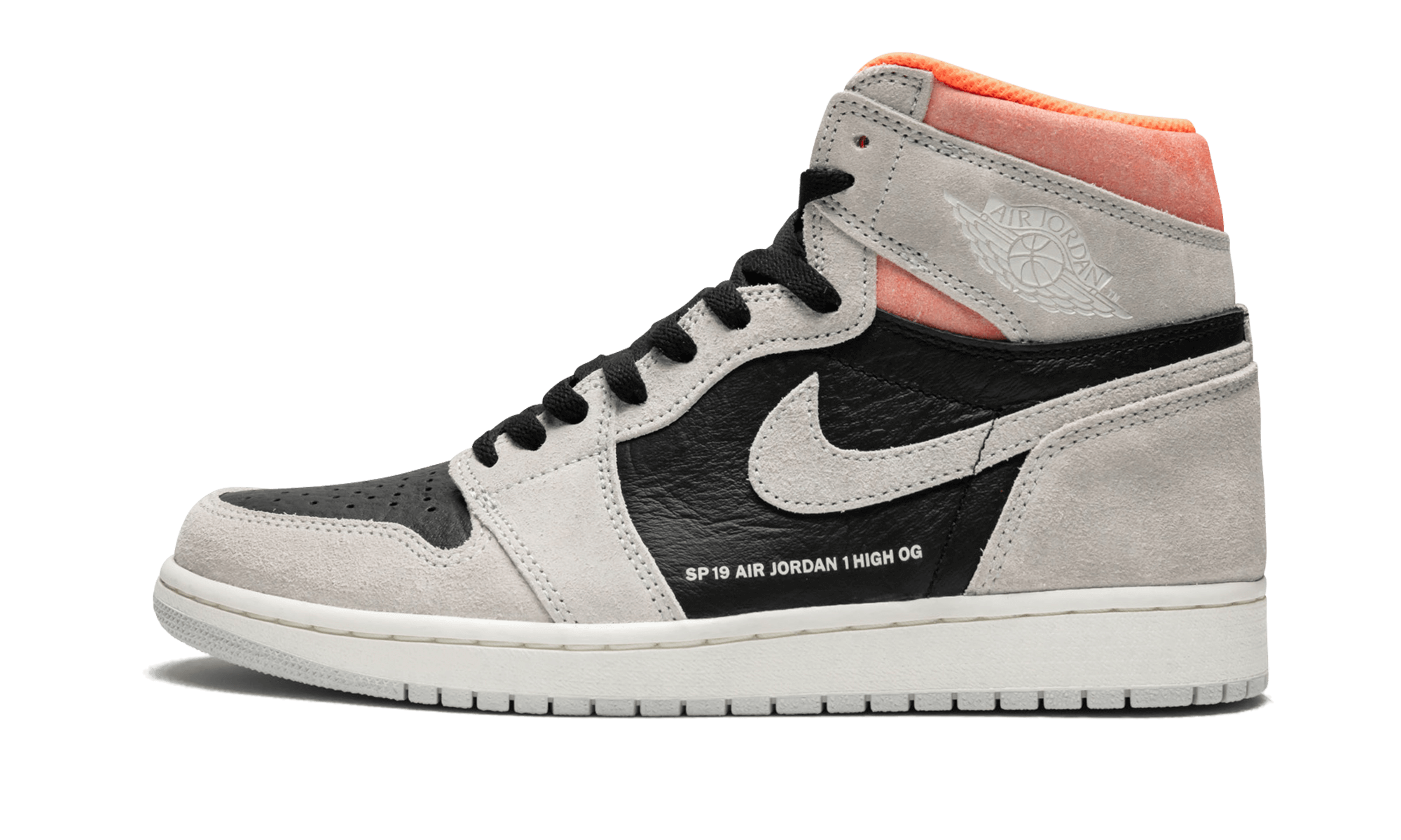 "3893535bbed The Air Jordan 1 ""Neutral Grey/Hyper Crimson"" is a unique colorway and  construction for the iconic silhouette. Michael Jordan's first signature  shoe retains ..."
