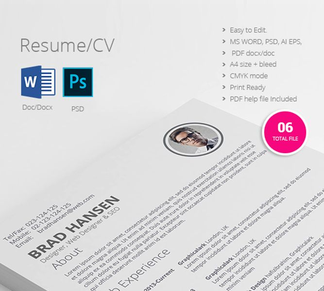 professional resume one page designs for one order 100