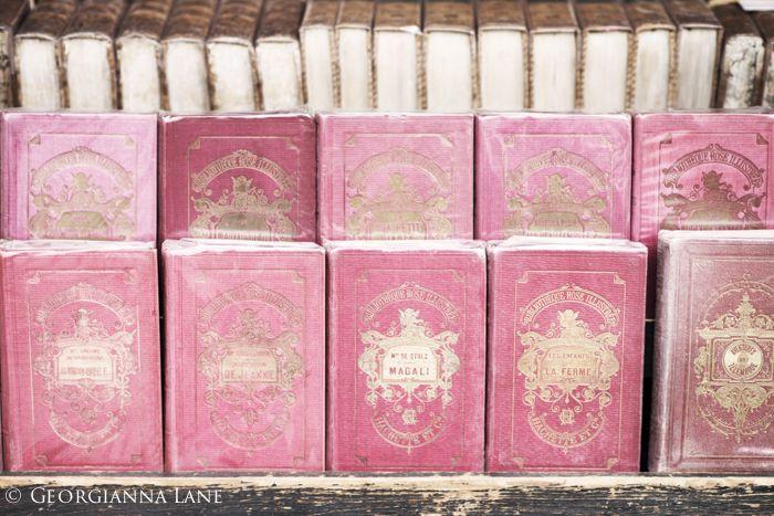 Vintage books, Paris, by Georgianna Lane