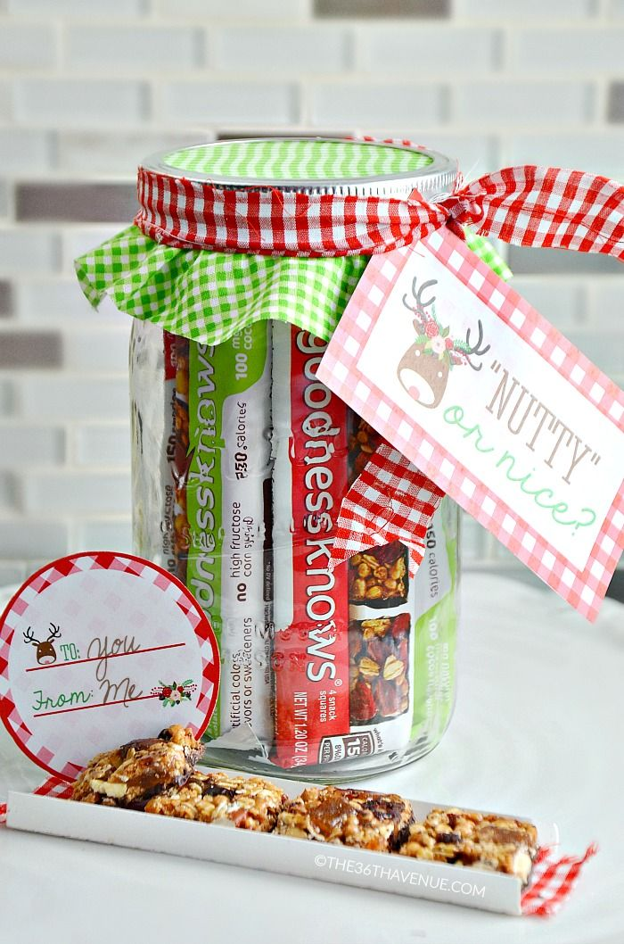 The 36th Avenue Snack Jar Gift Idea And Free Printables Jar Gifts Mason Jar Gifts Diy Teacher Christmas Gifts