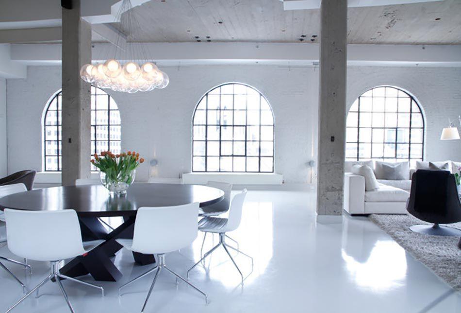 Style industriel pour un séjour contemporain en béton dream house
