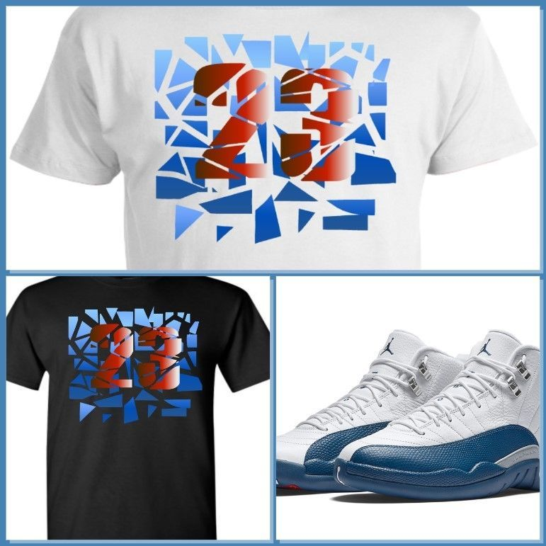 068ec3a8 Exclusive Tee Shirt To Match The Nike Air Jordan 12 Xii French Blue! Shatter