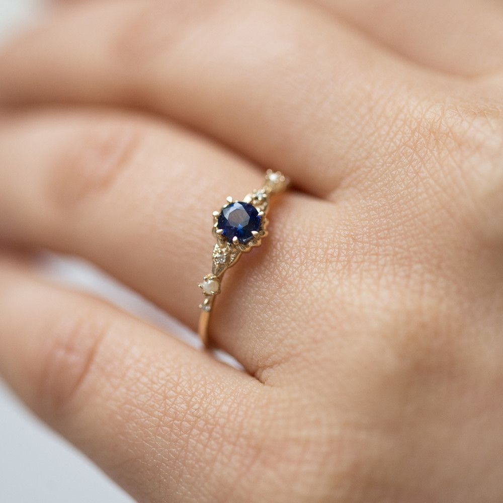 Clara&39;s Dream Ring, Sapphire in 2020   Vintage engagement ...